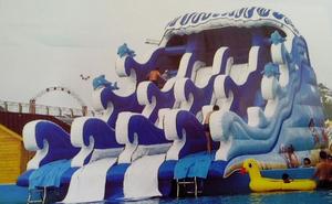 3.冲浪滑梯12×6.5×8.5m配高1.32m